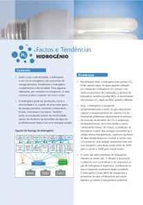 Energia para um futuro sustentável: hidrogénio