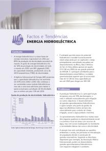Energia para um futuro sustentável: energia hidroeletrica